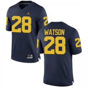 Brandon Watson Michigan High School Mens Game Jersey - Jordan Navy