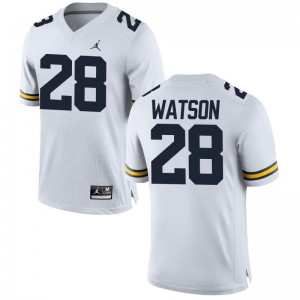 Brandon Watson Michigan Wolverines High School Men Game Jersey - Jordan White