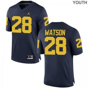 Brandon Watson Michigan NCAA Kids Limited Jersey - Jordan Navy