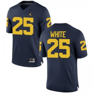 Brendan White Michigan College For Men Game Jerseys - Jordan Navy