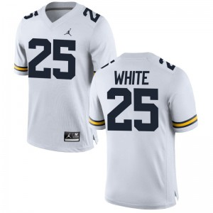 Brendan White Wolverines College Mens Game Jerseys - Jordan White