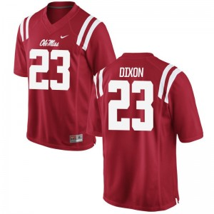 Breon Dixon Ole Miss Rebels NCAA Mens Game Jersey - Red