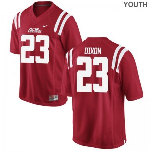 Breon Dixon Ole Miss Rebels Player Youth Game Jersey - Red
