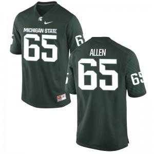 Brian Allen Michigan State University Football Men Game Jerseys - Green