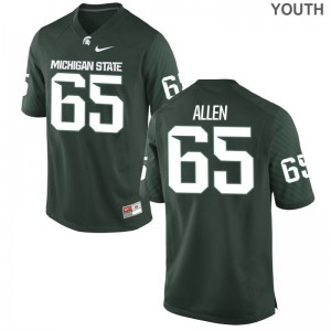 Brian Allen Michigan State Spartans Player Youth Limited Jerseys - Green