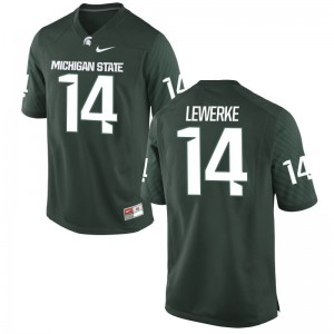 Brian Lewerke Michigan State Spartans College For Men Limited Jerseys - Green