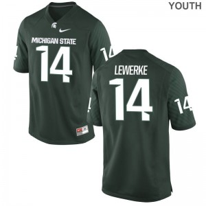 Brian Lewerke Michigan State Spartans High School Youth Game Jerseys - Green