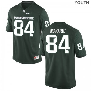 Brock Makaric MSU Official Youth Game Jersey - Green