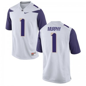Byron Murphy Washington Huskies Official For Men Game Jersey - White