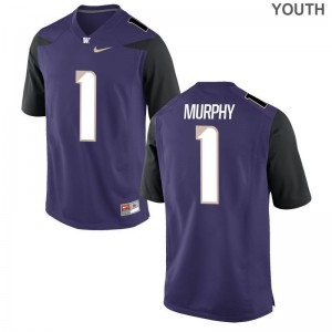 Byron Murphy University of Washington Official Youth(Kids) Game Jersey - Purple