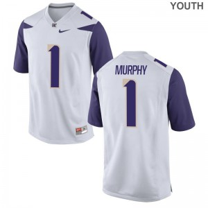 Byron Murphy UW Official Youth(Kids) Limited Jerseys - White
