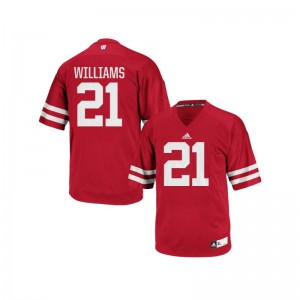 Caesar Williams Wisconsin Badgers NCAA Men Replica Jersey - Red