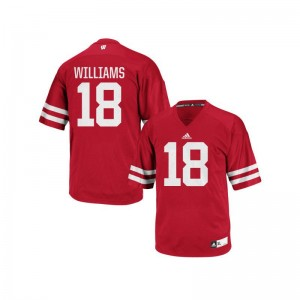 Caesar Williams Wisconsin Badgers University For Kids Authentic Jerseys - Red