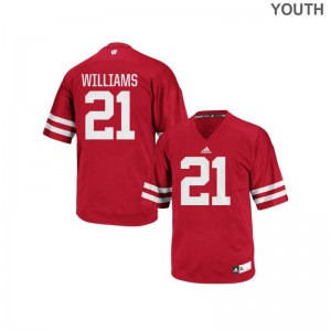 Caesar Williams Wisconsin Badgers University For Kids Replica Jersey - Red