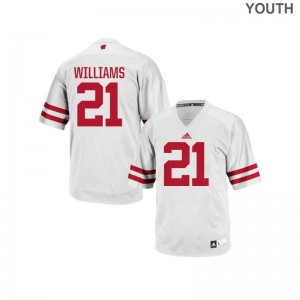 Caesar Williams Wisconsin Badgers College For Kids Replica Jersey - White