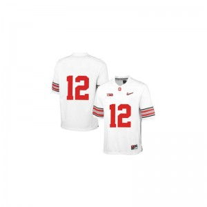 Cardale Jones Ohio State Football Youth(Kids) Game Jersey - White Diamond Quest Patch