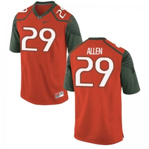 Chad Allen Hurricanes High School Mens Game Jersey - Orange