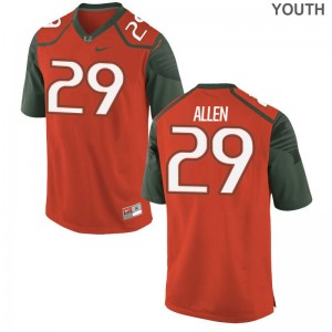 Chad Allen University of Miami University For Kids Game Jerseys - Orange