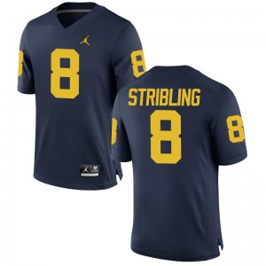 Channing Stribling Wolverines Player For Men Game Jersey - Jordan Navy