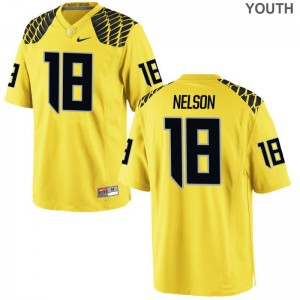 Charles Nelson University of Oregon Football Youth(Kids) Limited Jerseys - Gold