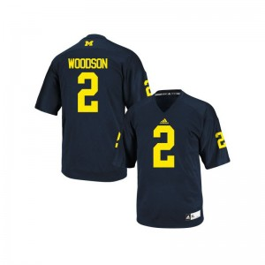 Charles Woodson Michigan Wolverines NCAA Men Game Jersey - Navy Blue