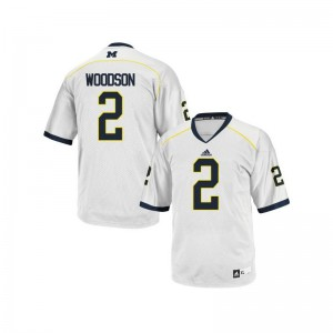 Charles Woodson Wolverines High School Youth(Kids) Limited Jerseys - White