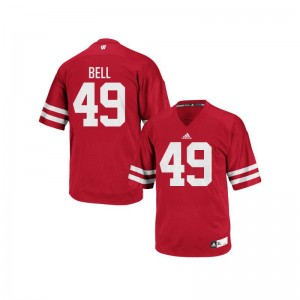 Christian Bell University of Wisconsin University For Men Authentic Jersey - Red