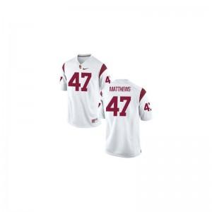 Clay Matthews USC NCAA Men Game Jerseys - White