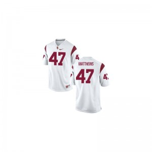 Clay Matthews Trojans Alumni Men Limited Jerseys - White