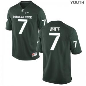 Cody White Michigan State University NCAA Youth(Kids) Game Jersey - Green