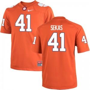 Connor Sekas Clemson Tigers University Men Game Jersey - Orange