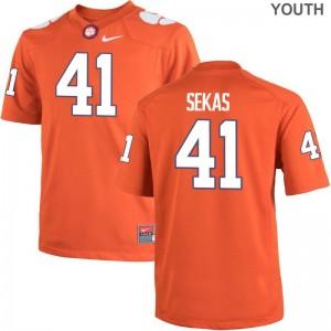 Connor Sekas Clemson Player Youth Game Jerseys - Orange
