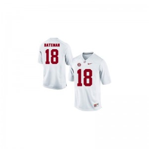 Cooper Bateman University of Alabama Official Youth Game Jerseys - White