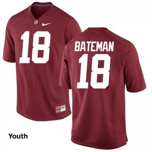 Cooper Bateman University of Alabama Player Youth Limited Jersey - Red