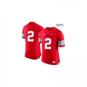 Cris Carter OSU Buckeyes High School Kids Limited Jersey - Red Diamond Quest Patch