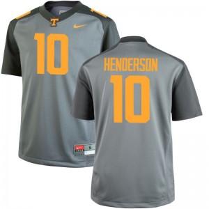 D.J. Henderson Tennessee Vols NCAA For Men Game Jerseys - Gray