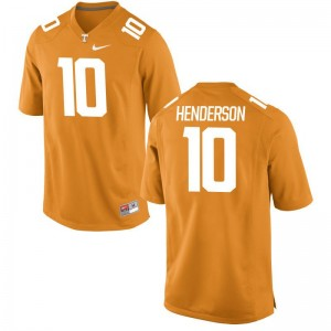 D.J. Henderson Tennessee College Youth(Kids) Game Jersey - Orange