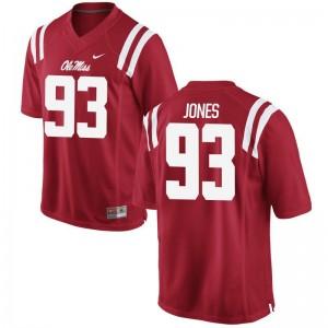 D.J. Jones Ole Miss Rebels Official Mens Game Jersey - Red