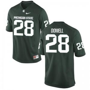 David Dowell Michigan State University NCAA Mens Game Jerseys - Green