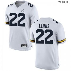 David Long Michigan Wolverines High School Youth(Kids) Game Jerseys - Jordan White