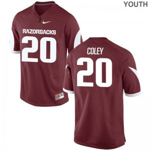 De'Andre Coley Arkansas Razorbacks Official For Kids Limited Jersey - Cardinal