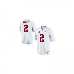 Derrick Henry Bama Football Mens Game Jerseys - White