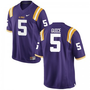 Derrius Guice Louisiana State Tigers Player Mens Game Jersey - Purple