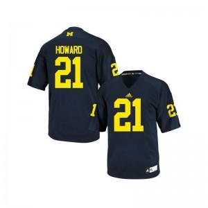 Desmond Howard Michigan University Mens Game Jerseys - Navy Blue