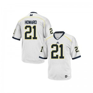 Desmond Howard Michigan Player Mens Game Jersey - White