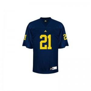 Desmond Howard Michigan High School For Men Limited Jerseys - Blue