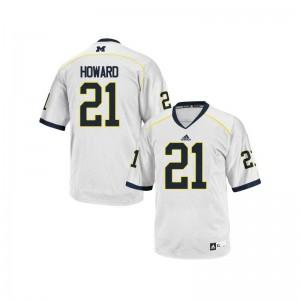 Desmond Howard Michigan College Kids Game Jerseys - White