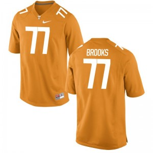Devante Brooks Vols Player Men Game Jersey - Orange