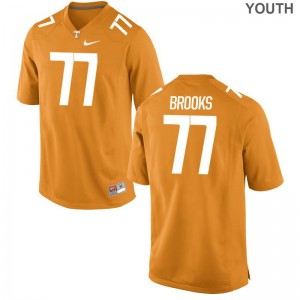 Devante Brooks UT Football For Kids Limited Jerseys - Orange