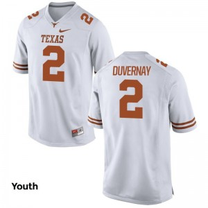 Devin Duvernay University of Texas Football Youth(Kids) Game Jersey - White